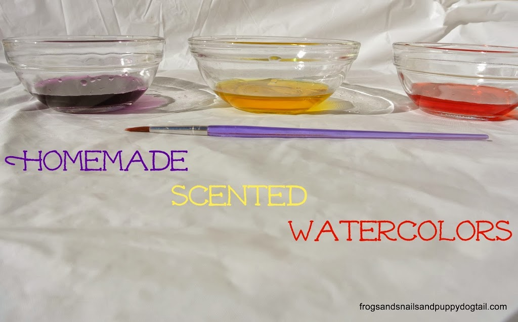 Homemade Scented Watercolors