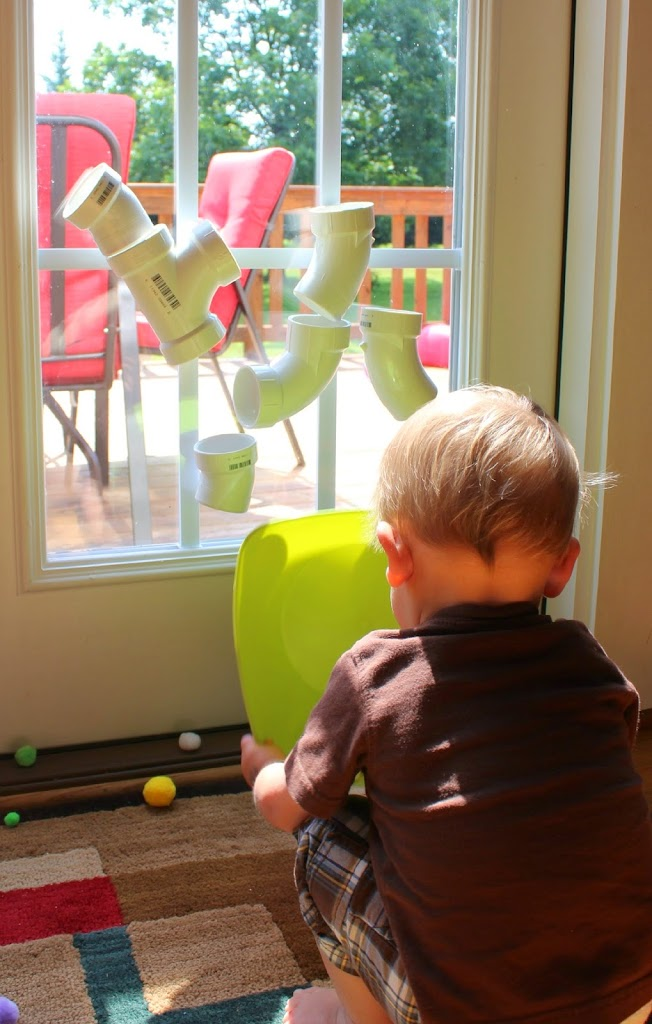 PVC Tube  Play Wall ~ 101 Kids Activities