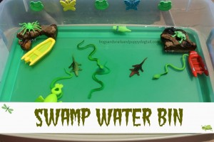 Swamp Water Bin~water play for kids