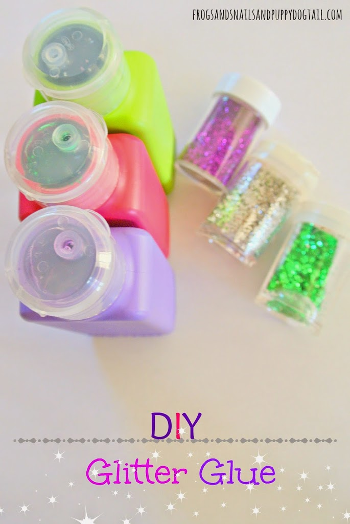 DIY Colored Glitter Glue