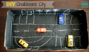 {DIY} Chalkboard City For Hot Wheels