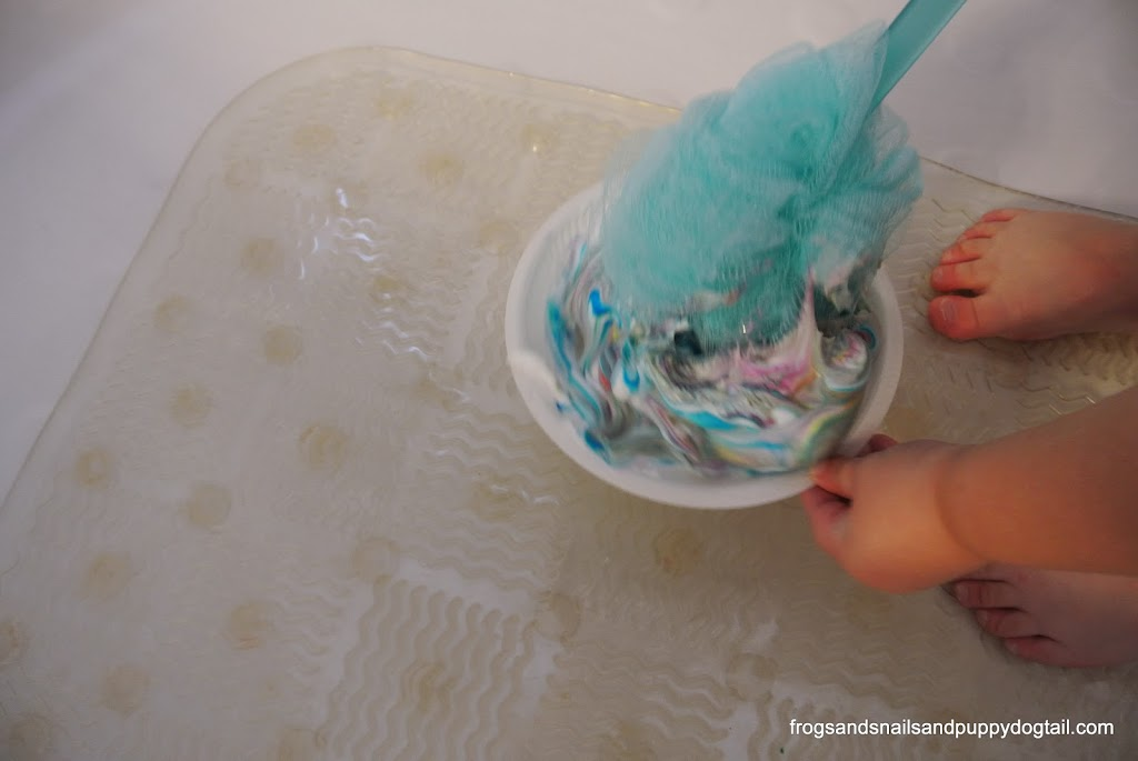 Tie Dye Foam Bath Paint