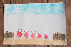 Fingerprint Crabs Craft