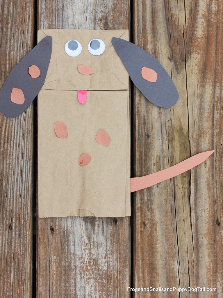 Paper Bag Dog Hand Puppet