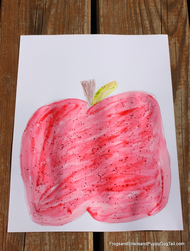Apple Scented Glitter Glue And Apple Craft Fspdt