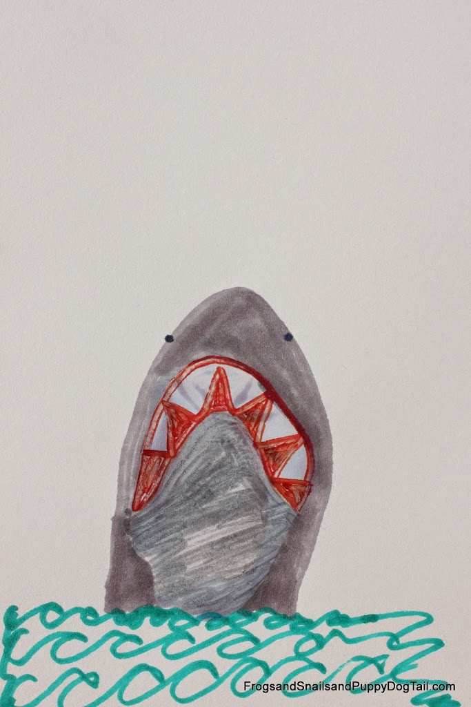 Footprint Heel print Shark Art