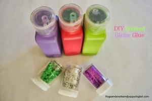 DIY Colored Glitter Glue by FSPDT