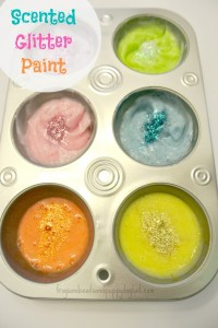 3 Ingredient To Make Scented Glitter Sensory Paint