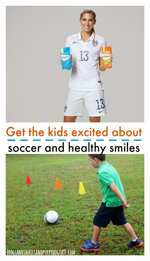 Get the kids excited about soccer and #healthysmiles #ad #trident