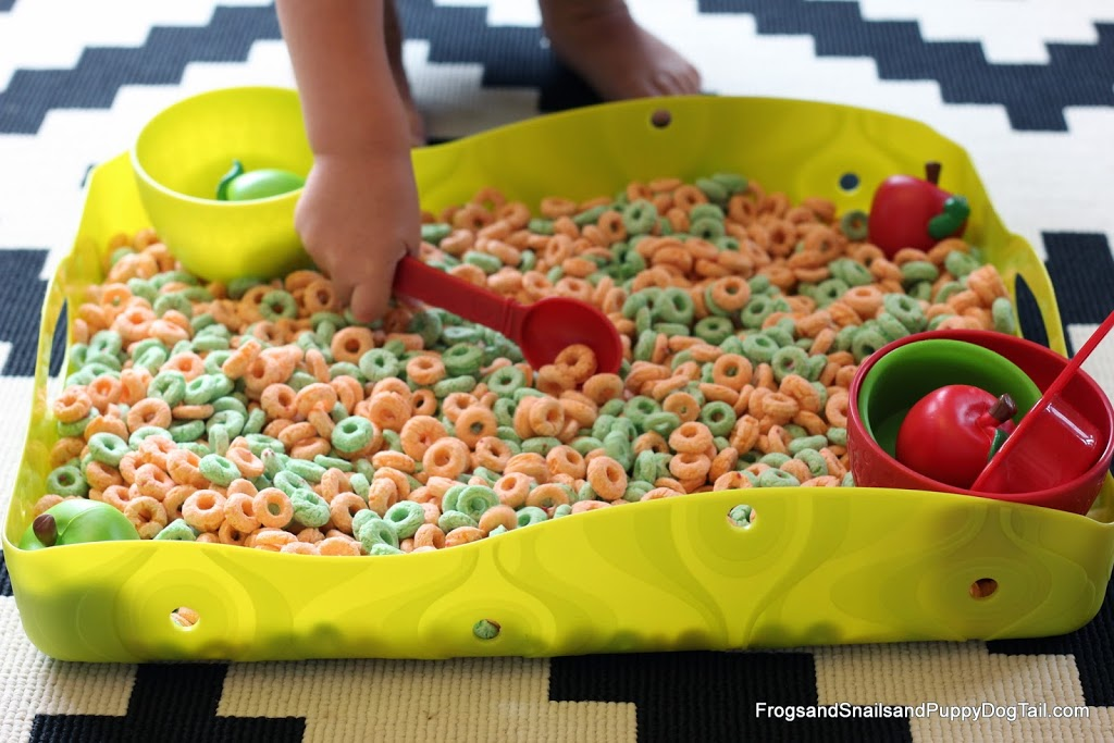 Edible Apple Sensory Bin