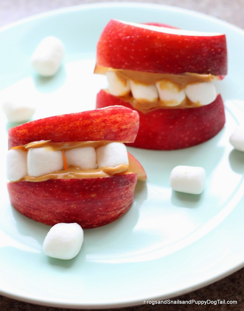 Apple Teeth Fun Snack for the Kids