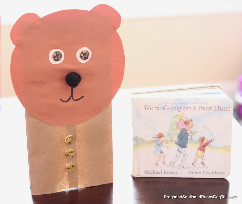 Paper Bag Bear Puppets for We're Going on a Bear Hunt