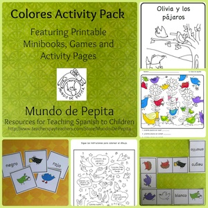 Spanish color activities from Mundo de Pepita.