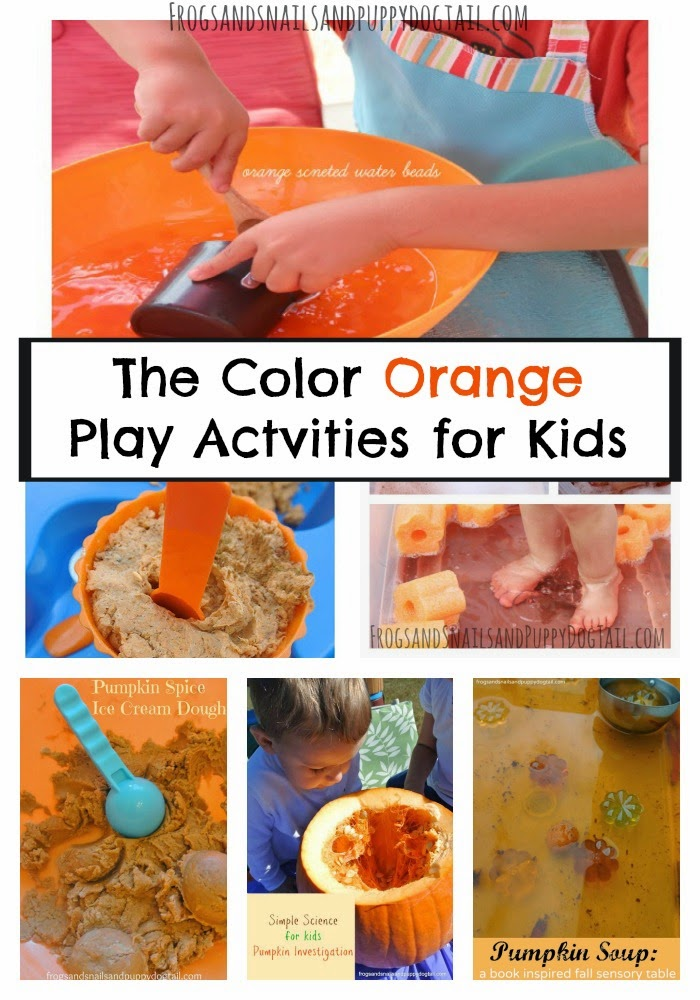 The Color Orange Play Activities for Kids in honor of Hunger Awareness Month on FSPDT