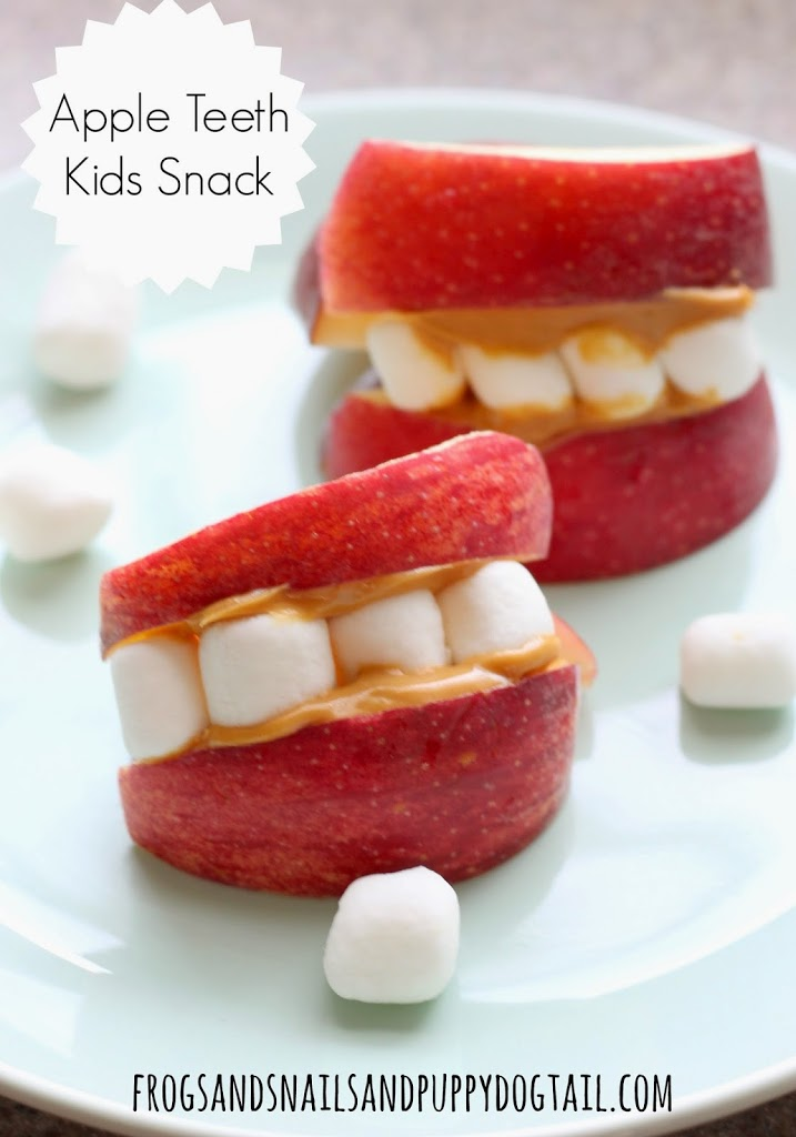 Apple Teeth Fun Snack for the Kids perfect for Halloween by FSPDT