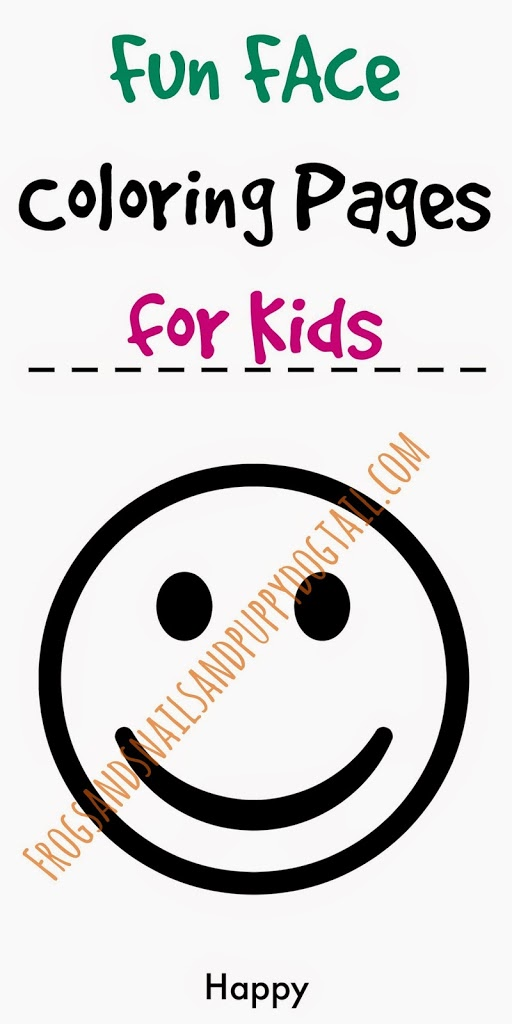 Fun Face Coloring Pages for Kids by FSPDT