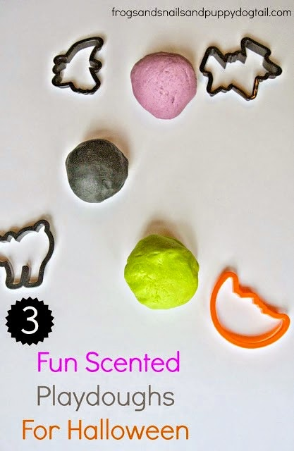 Halloween Playdough Recipes in 3 fun Scents on FSPDT