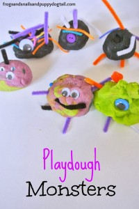 Halloween Playdough in 3 fun Scents