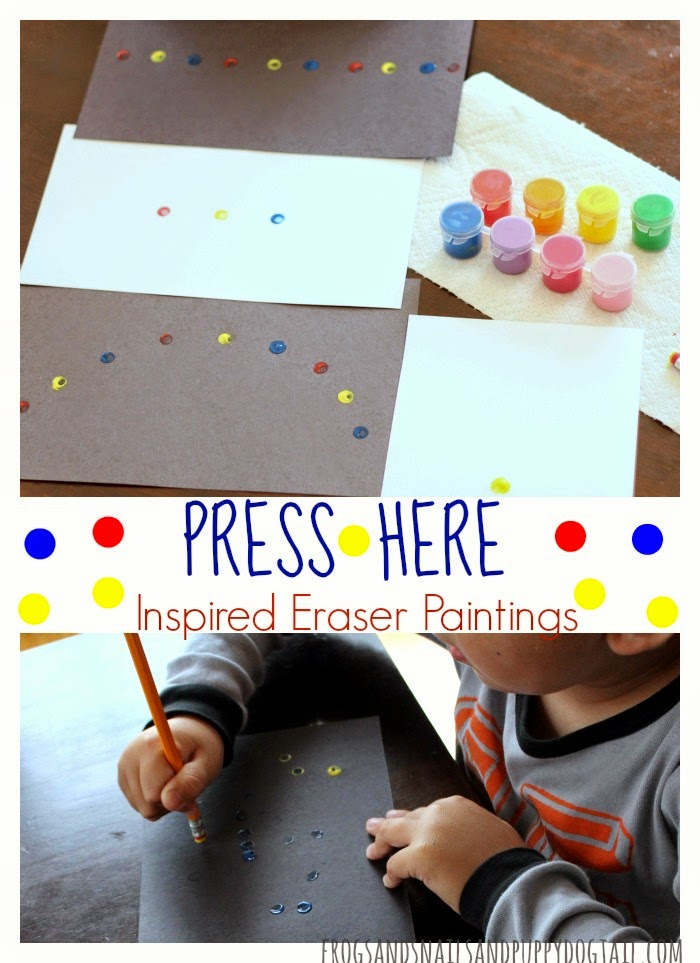 Press Here Book Inspired Eraser Paintings on FSPDT