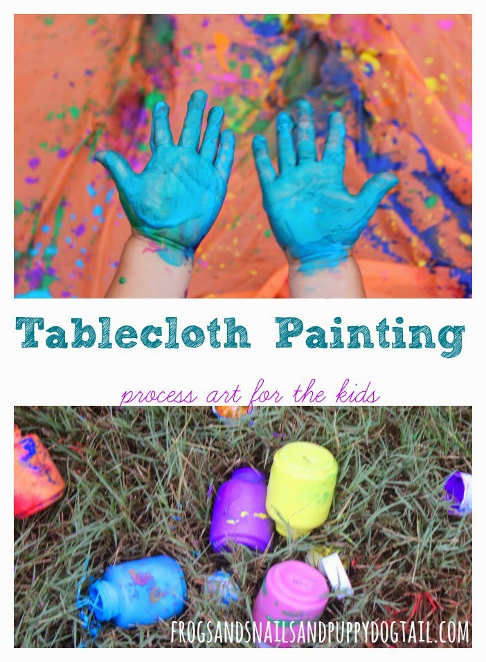 Tablecloth Painting ~ process art for the kids by FSPDT