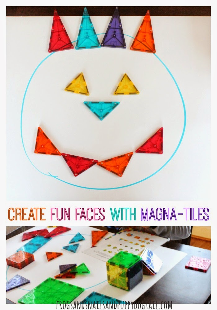 Create Fun Faces with Magna-Tiles one of the best toys on FSPDT