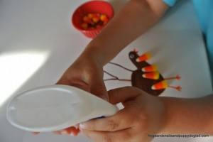 Candy Corn Turkey- Classic Handprint Art for Thanksgiving by FSPDT