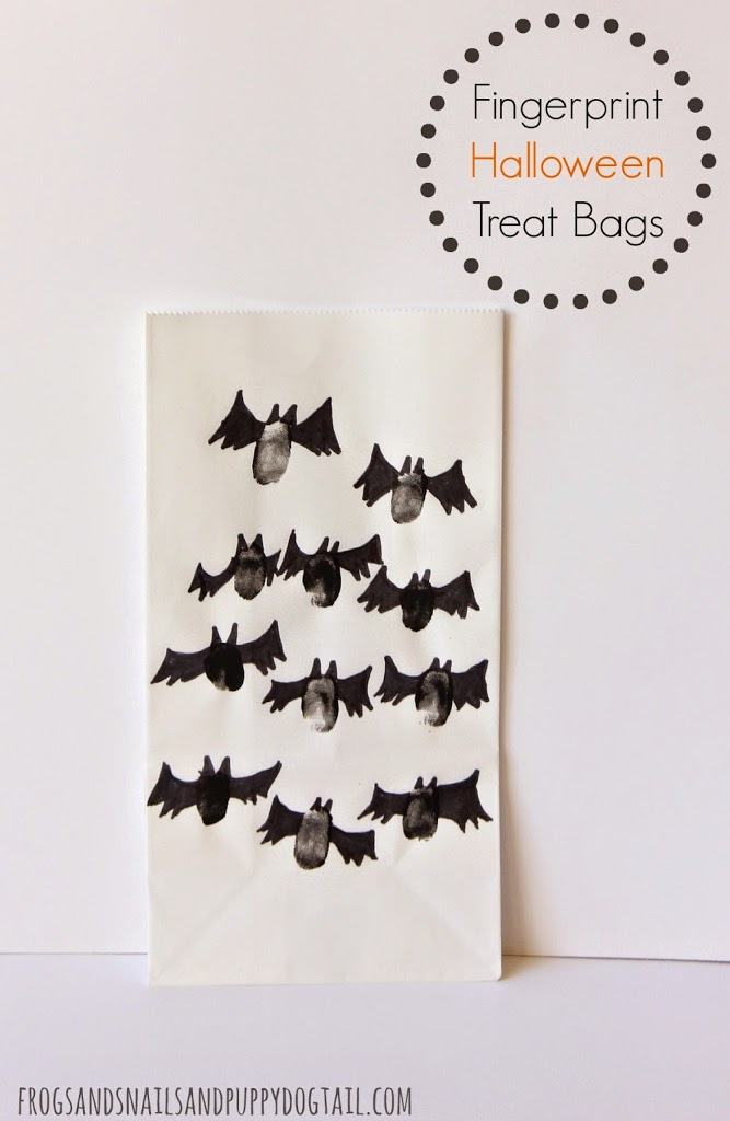 Fingerprint Halloween Treat Bags