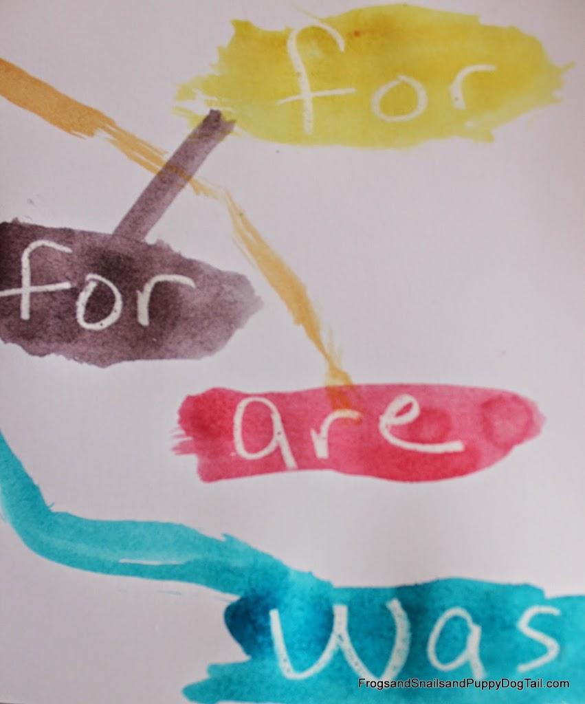 Invisible Sight Word Watercolor Paintings