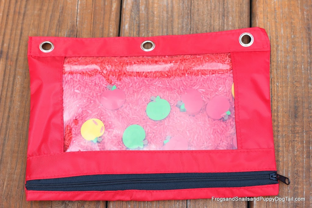 Ten Apples Up on Top Sensory Bag
