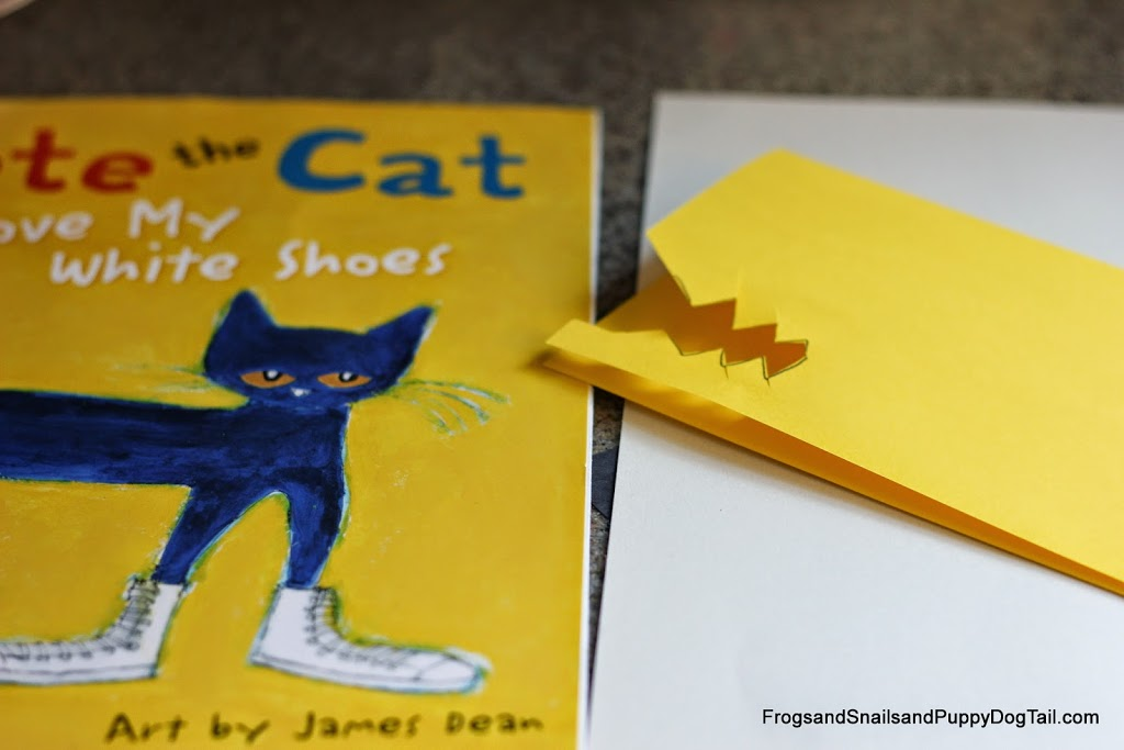 DIY Walking Sticks inspired by Pete the Cat I Love My White Shoes