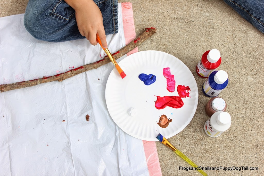 DIY Walking Sticks inspired by Pete the Cat I Love My White Shoes on FSPDT