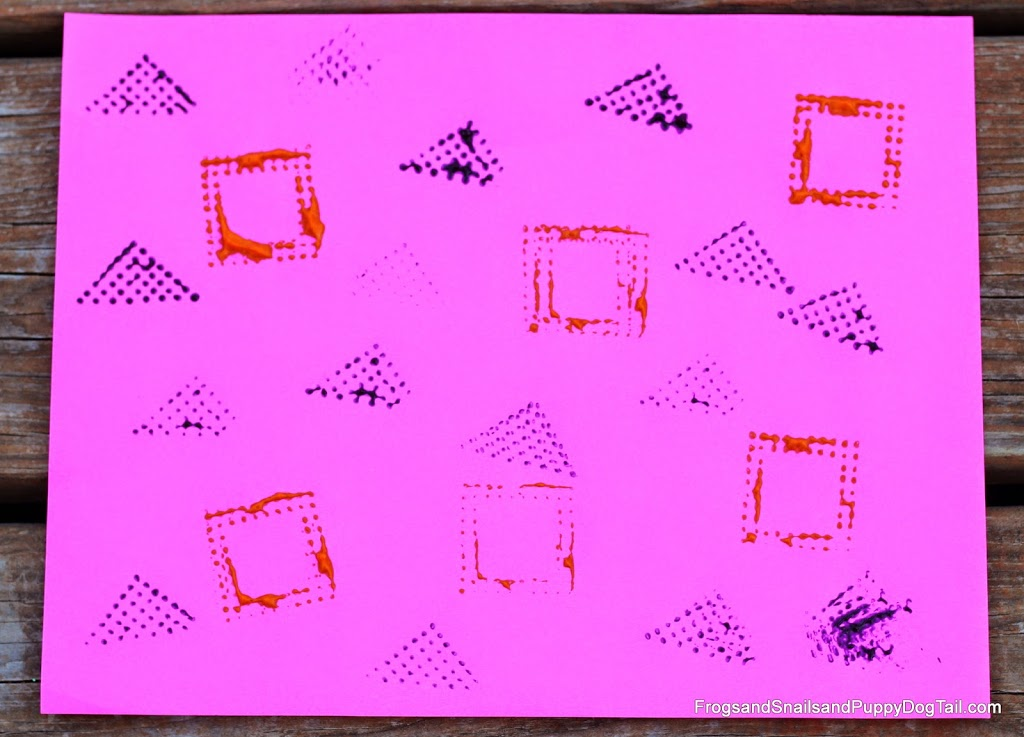 Paint or printmaking with the blocks