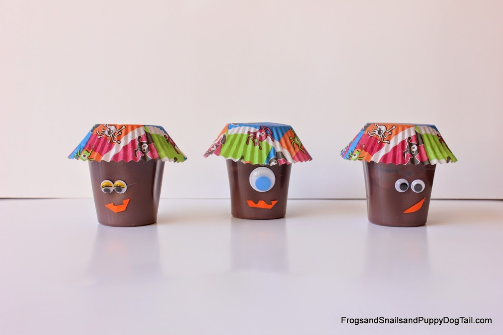 Monster Pudding Cups For Kids