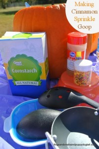 Pumpkin Investigation and Sensory Play with Cinnamon Sprinkle Goop