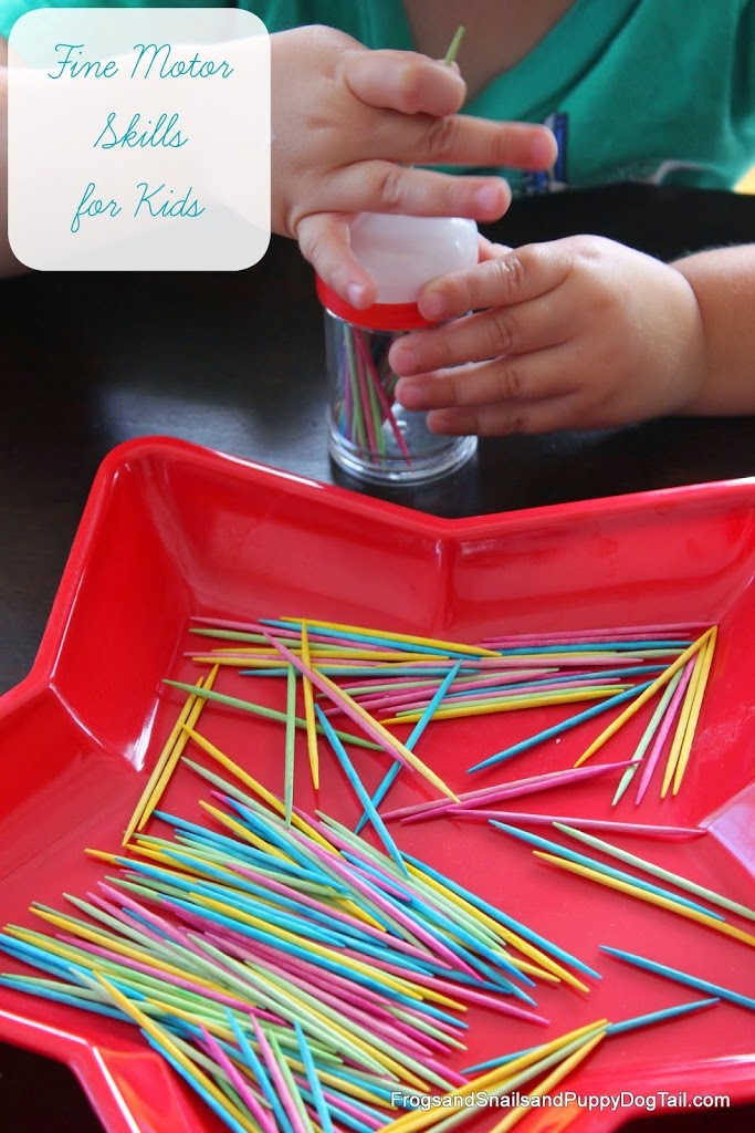 Fine Motor Skills Toothpick Drop activity for kids on FSPDT