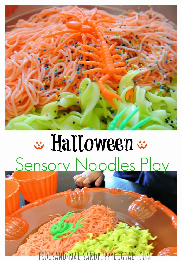 Halloween Sensory Noodles Play Activity