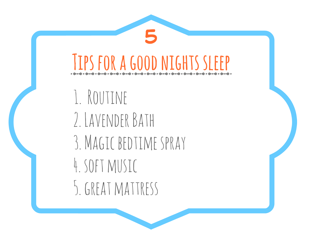 5 Tips for Kids to Have a Good Nights Sleep