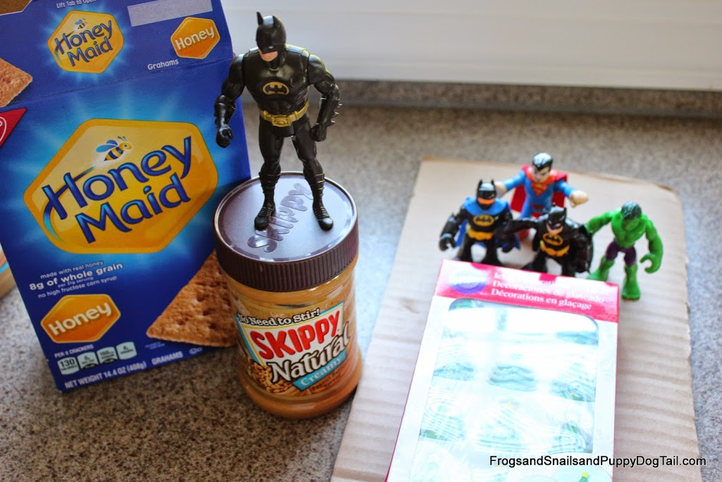 Superhero Graham Cracker House and Skippy Peanut Butter Ball Recipe