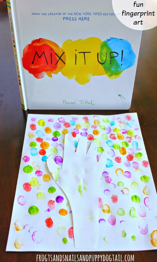 Mix It Up Book Inspired Fingerprint Art on FSPDT