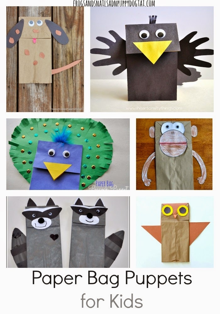 Paper Bag Puppets for Kids