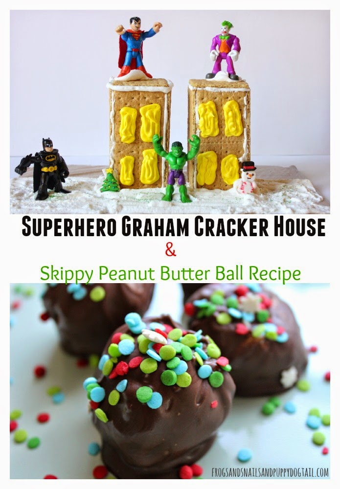 Superhero Graham Cracker House and Skippy Peanut Butter Ball Recipe #PBandG #Yippee #CollectiveBias #ad