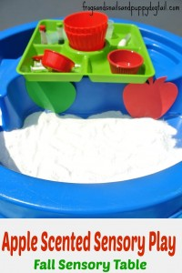 Apple Scented Sensory Play- Fall Sensory Table