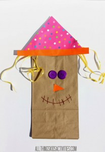 Scarecrow Paper Bag Craft for Kids