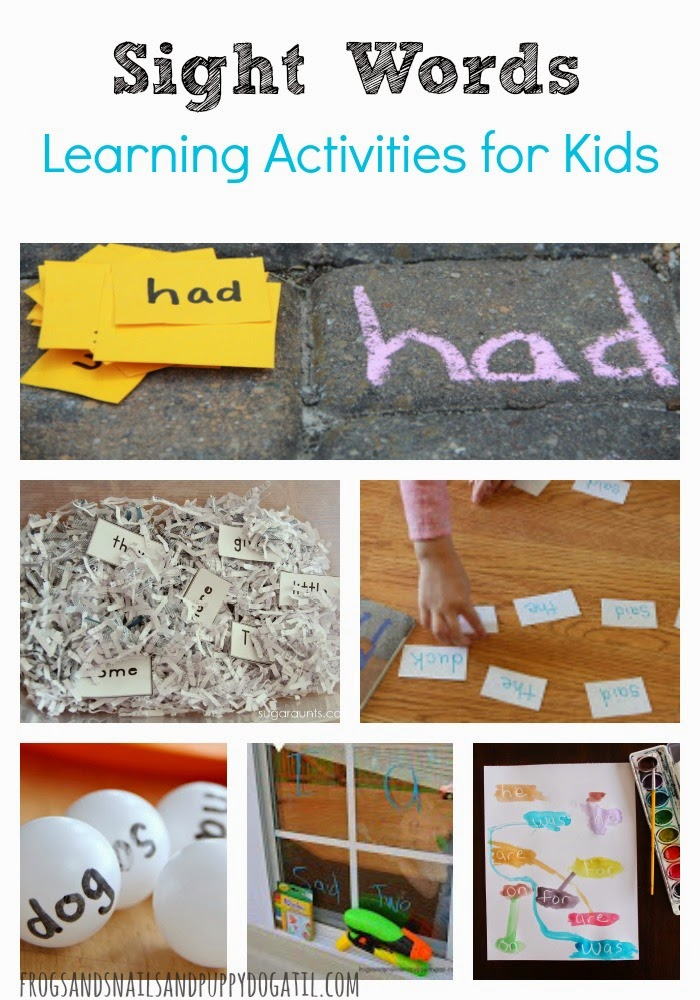 Sight Words Learning Activities For Kids Fspdt