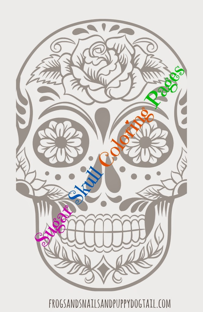 Day Of The Dead Sugar Skull Coloring Pages - FSPDT