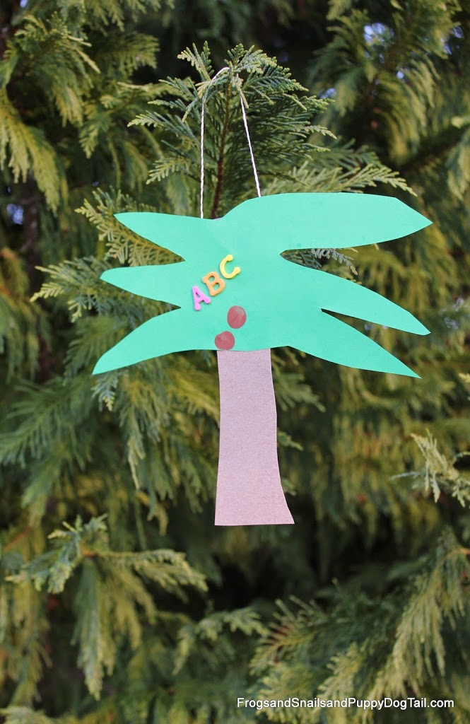 Chicka Chicka Boom Boom Kid Made Tree Ornament