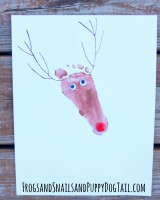 Reindeer Footprint Art