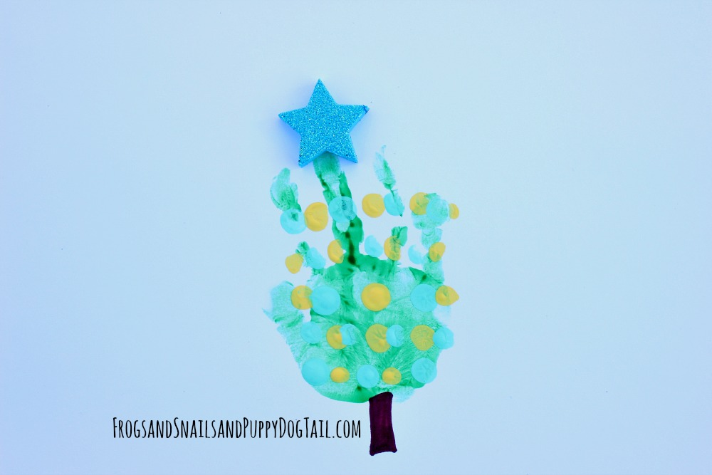 Christmas Tree handprint Art for Kids