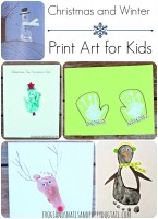 Christmas and Winter Print Art for Kids