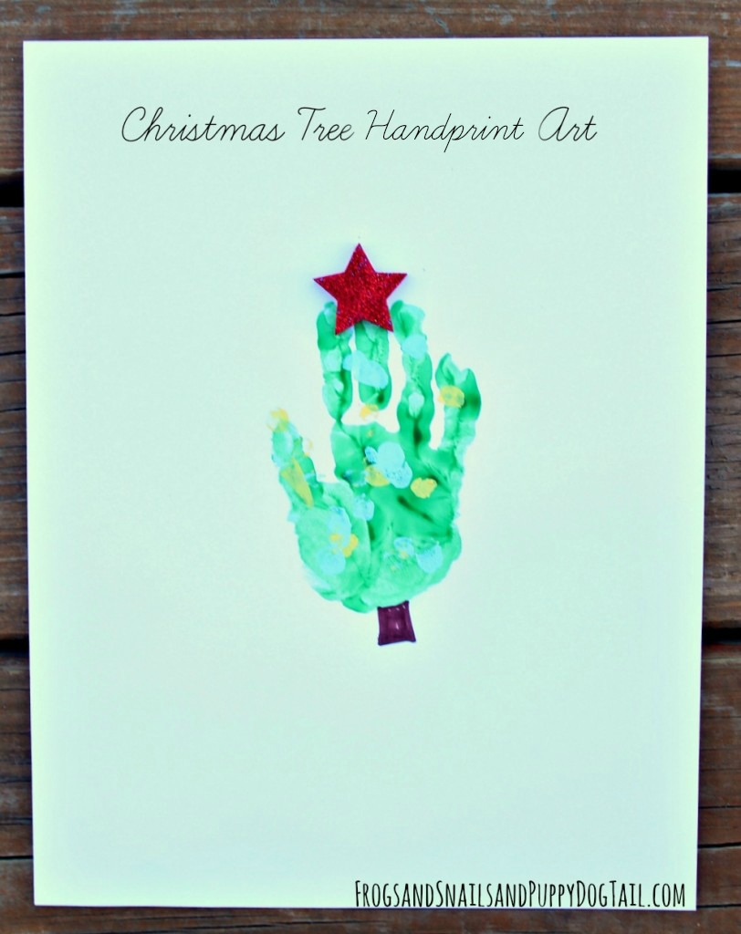 christmas handprint tree art